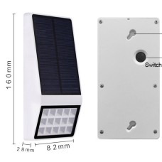 Solar wall lamp, motion sensor + dim light, 3 operation modes
