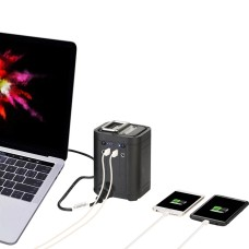 Multifunction power bank, 26800mAh, car jump starter, AC/DC output, strong LED lighting