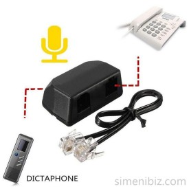RJ11 for Digital Voice Recorder Dictaphone Telephone Phone Recording Adapter Kit