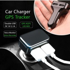 Dual USB Car Charger Built-in GPS Tracker,GSM+GPS+WIfi+LBS, Quick Positioning